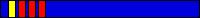 7.3 KYU (niebieski pas + 3 czerwone pagony + żółty pagon)