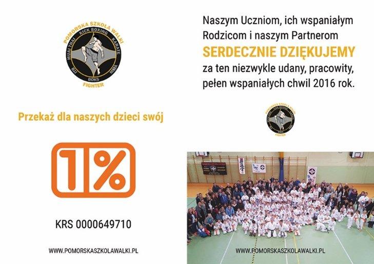 1% dla Pomorskiej Szkoły Walki